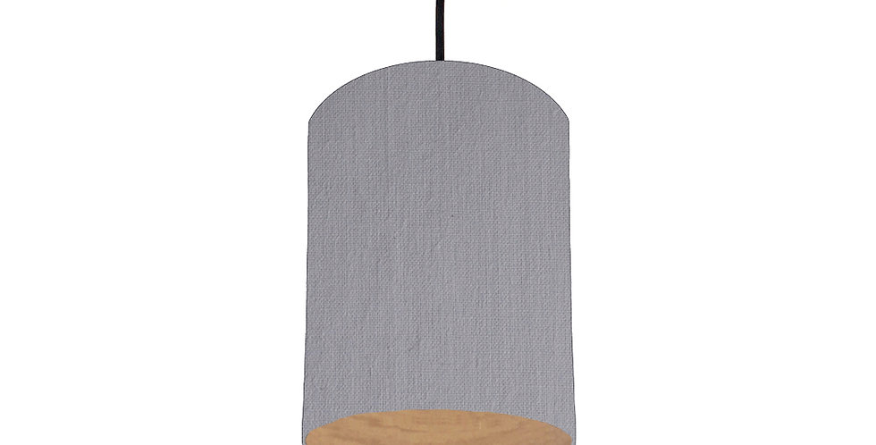 Light Grey & Wood Lined Lampshade - 15cm Wide