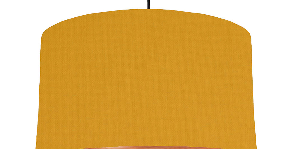 Mustard & Brushed Copper Lampshade - 50cm Wide