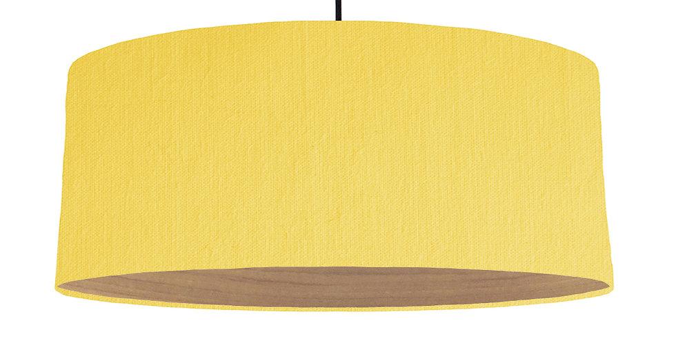Lemon & Wooden Lined Lampshade - 70cm Wide