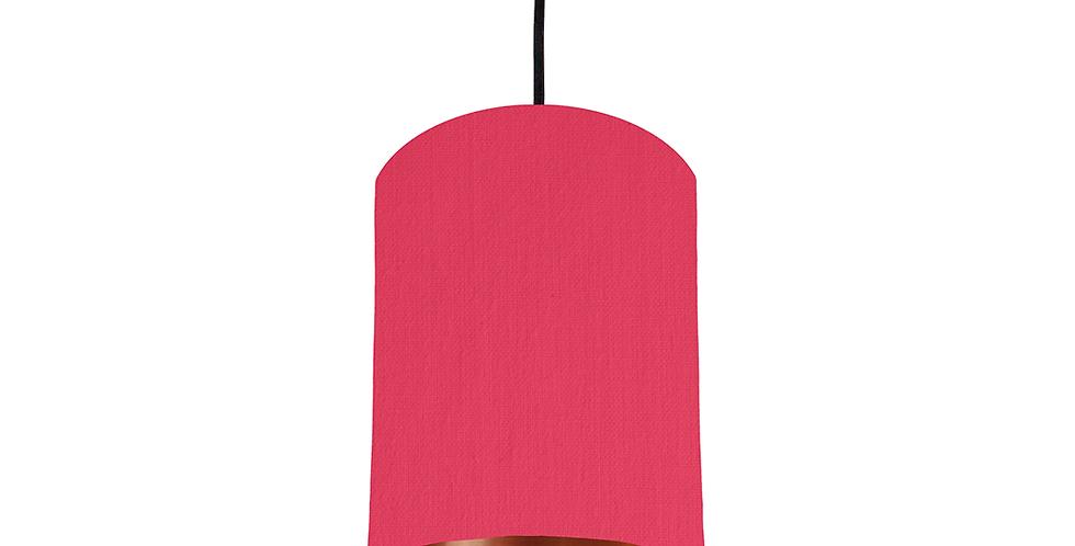 Cerise & Copper Mirrored Lampshade - 15cm Wide