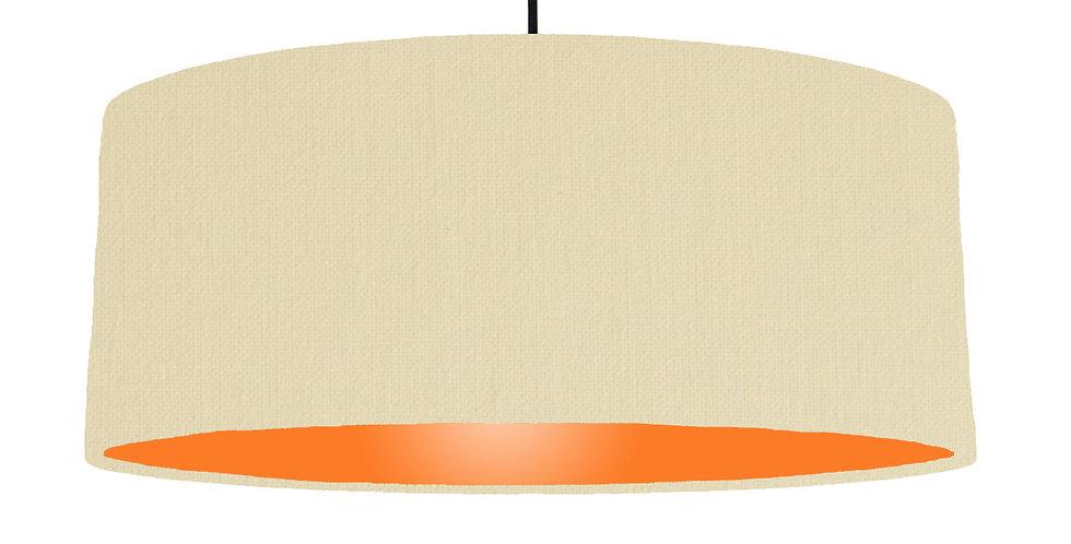 Natural & Orange Lampshade - 70cm Wide