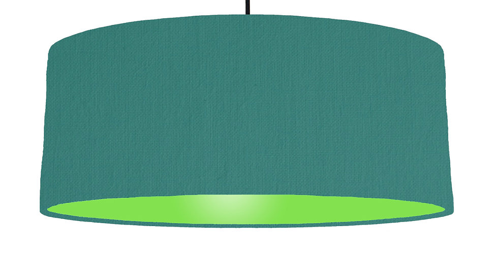 Jade & Lime Green Lampshade - 70cm Wide
