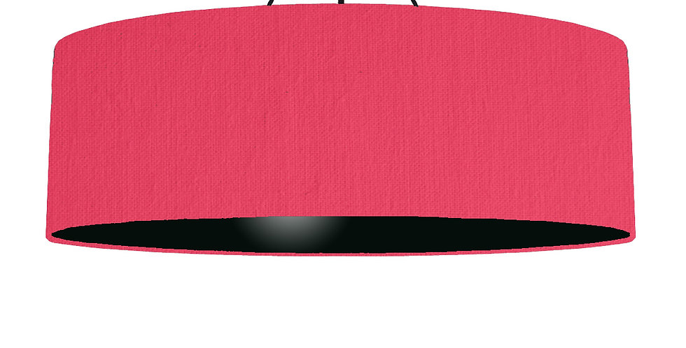 Cerise & Black Lampshade - 100cm Wide