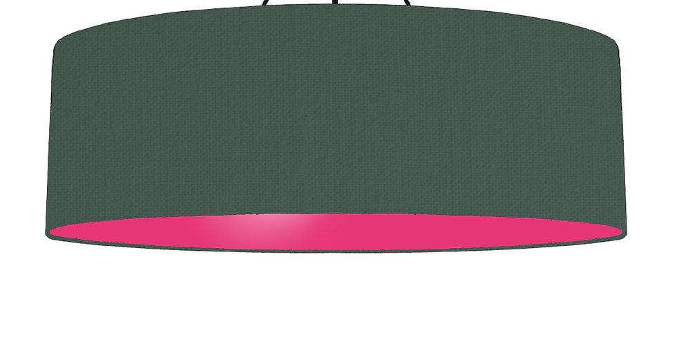 Bottle Green & Magenta Pink Lampshade - 100cm Wide