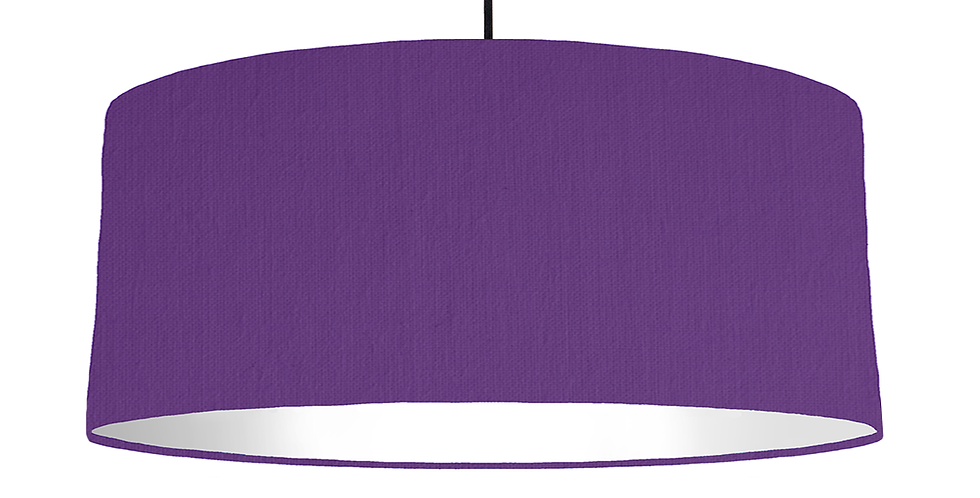 Violet & White Lampshade - 70cm Wide