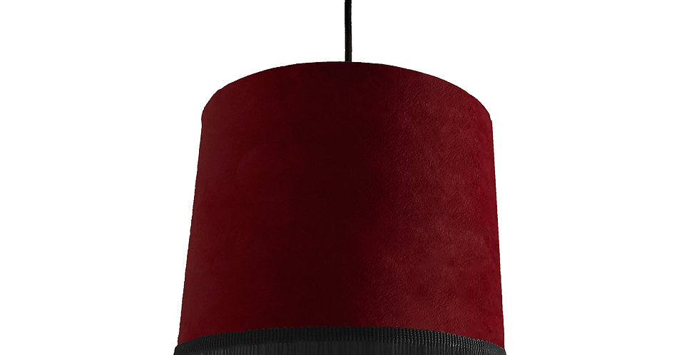 Burgundy Red Lampshade With Trim
