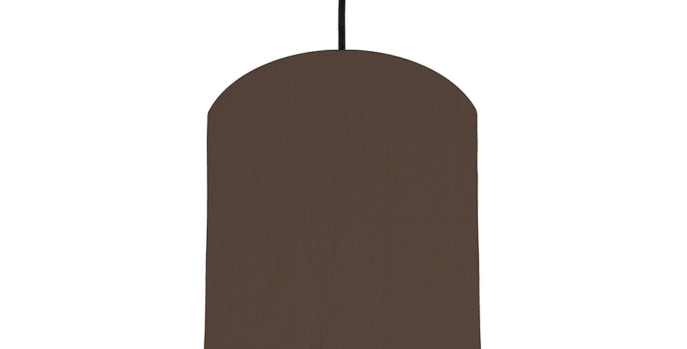 Brown & Bright Blue Lampshade - 20cm Wide