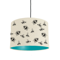turquoise bee lampshade