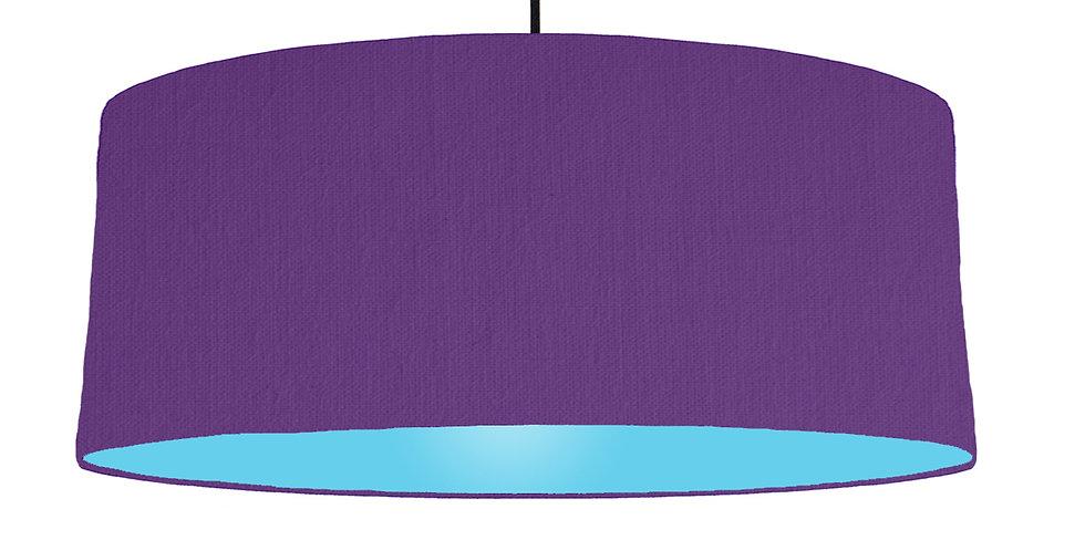 Violet & Light Blue Lampshade - 70cm Wide