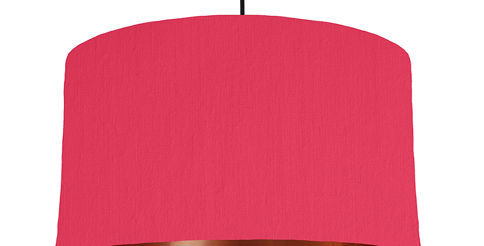 Cerise & Copper Mirrored Lampshade - 50cm Wide