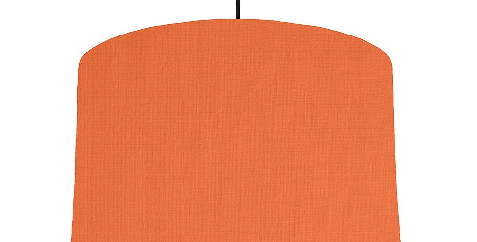 Orange & White Lampshade - 40cm Wide