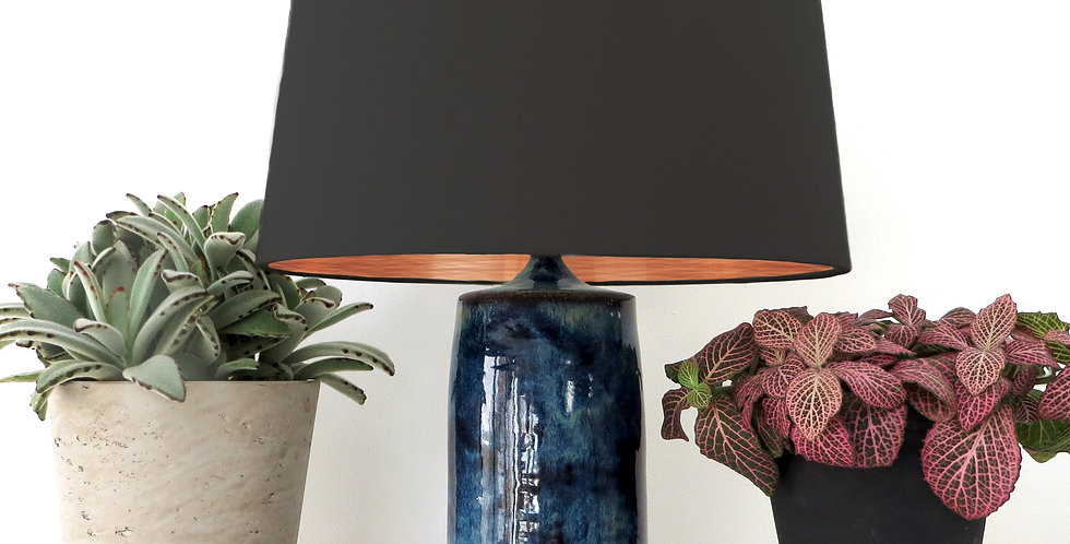 Conical Lampshade (30Tx35Bx30H) - Brushed Copper Lining