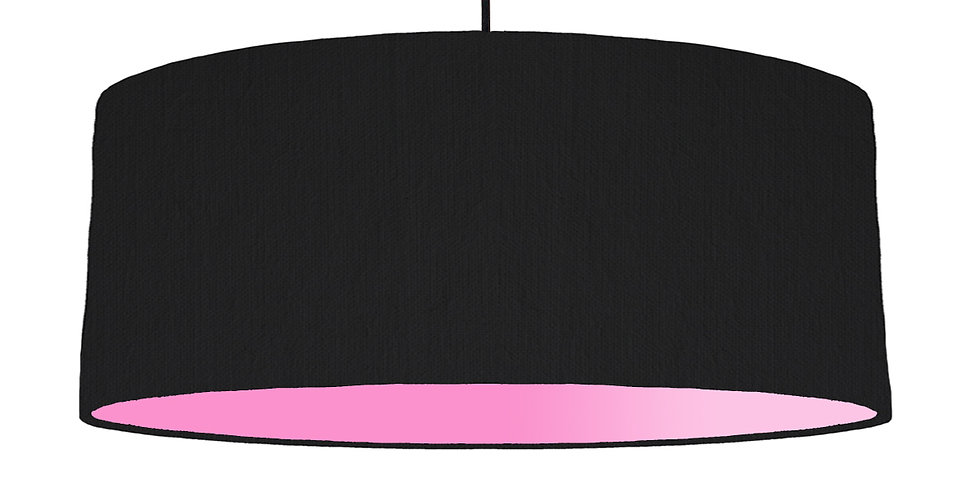 Black & Pink Lampshade - 70cm Wide