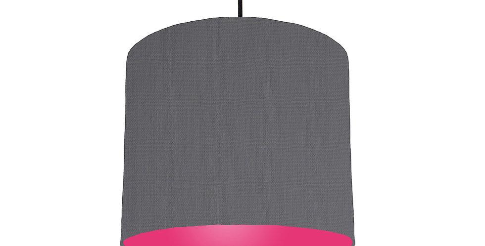 Dark Grey & Magenta Lampshade - 25cm Wide