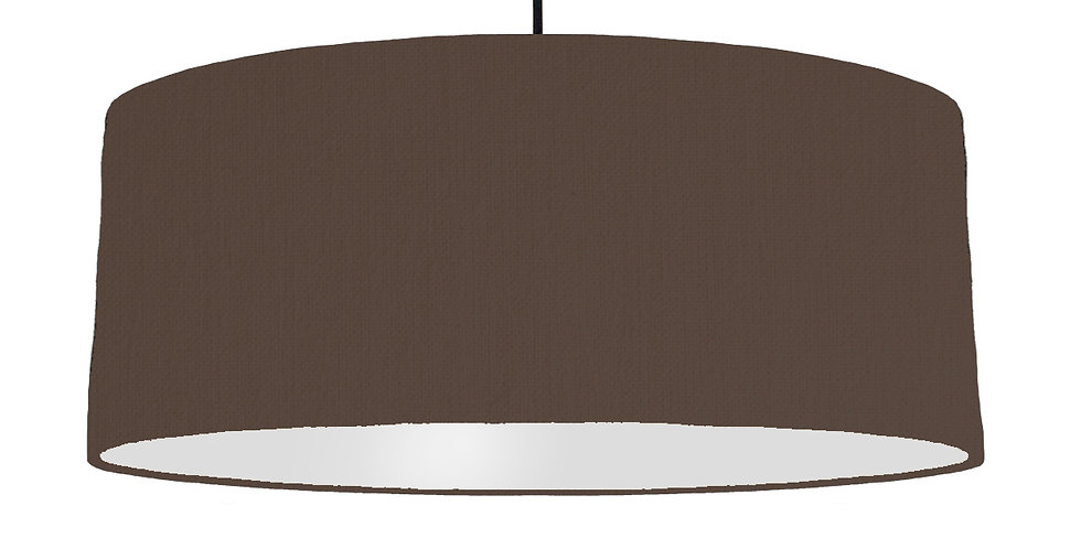 Brown & Light Grey Lampshade - 70cm Wide
