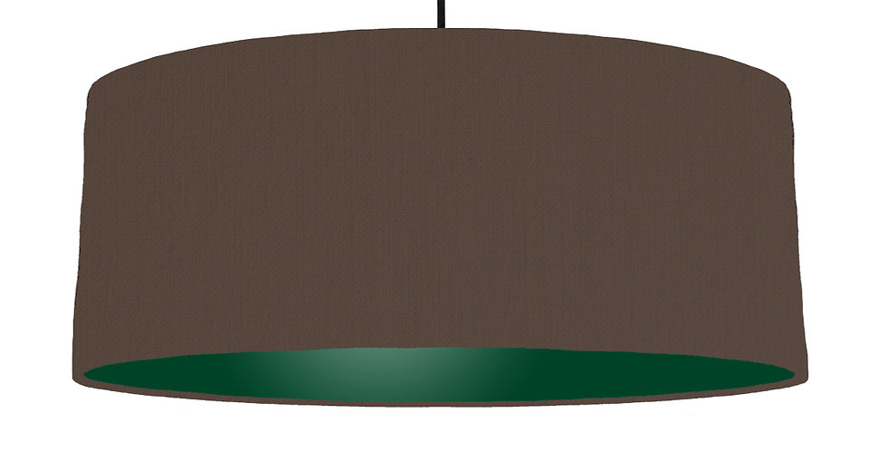Brown & Forest Green Lampshade - 70cm Wide