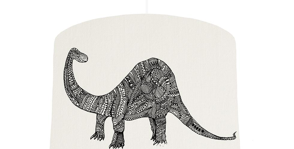 Dinosaur Shade - White Fabric