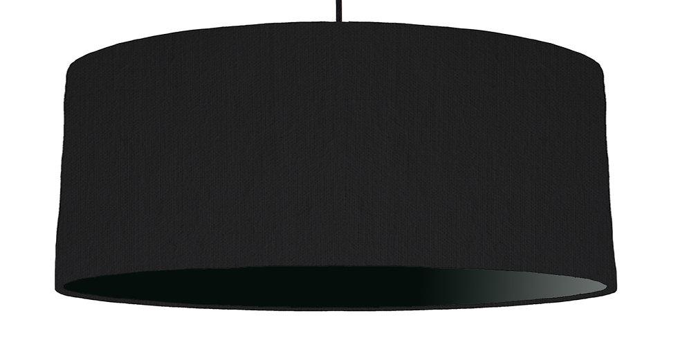 Black & Black Lampshade - 70cm Wide