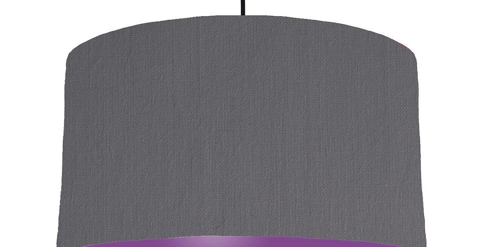 Dark Grey & Purple Lampshade - 50cm Wide