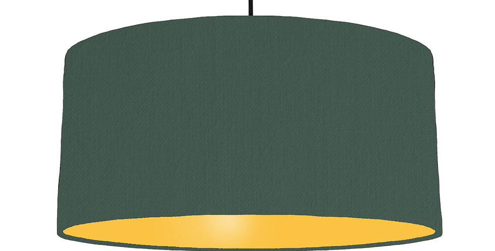 Bottle Green & Butter Yellow Lampshade - 60cm Wide