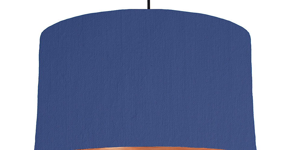 Royal Blue & Brushed Copper Lampshade - 50cm Wide
