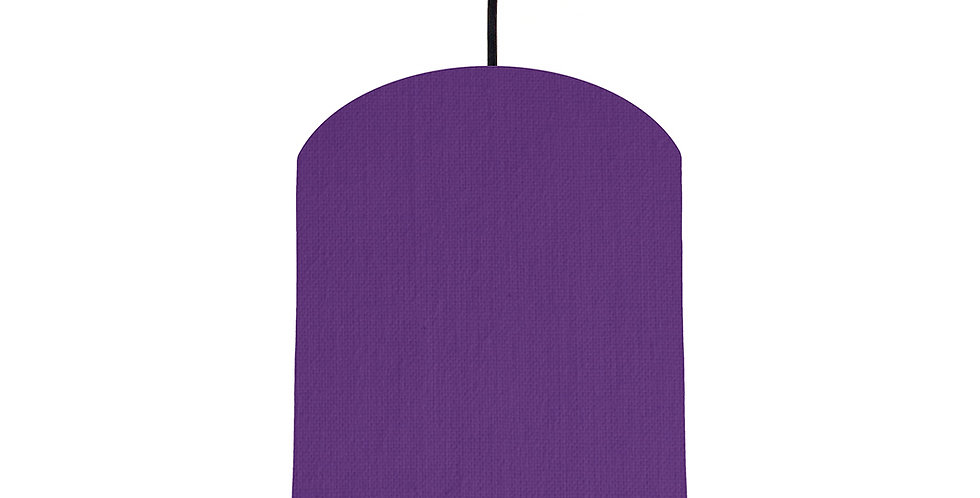 Violet & Gold Matt Lampshade - 20cm Wide
