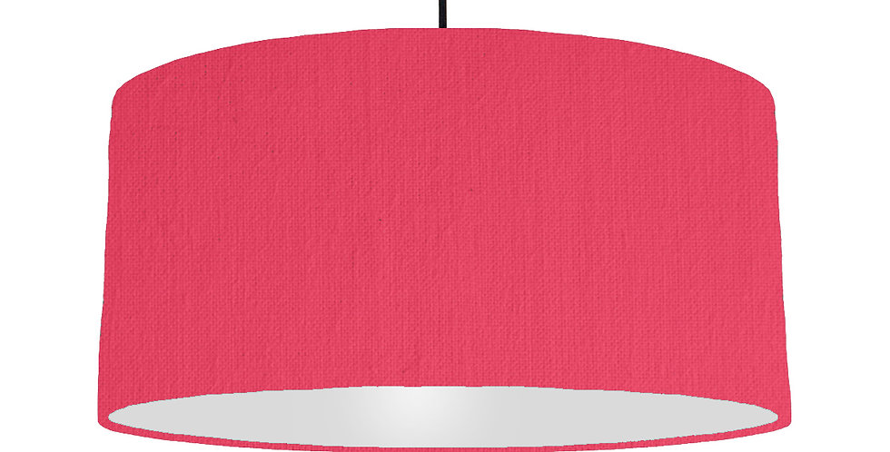 Cerise & Light Grey Lampshade - 60cm Wide
