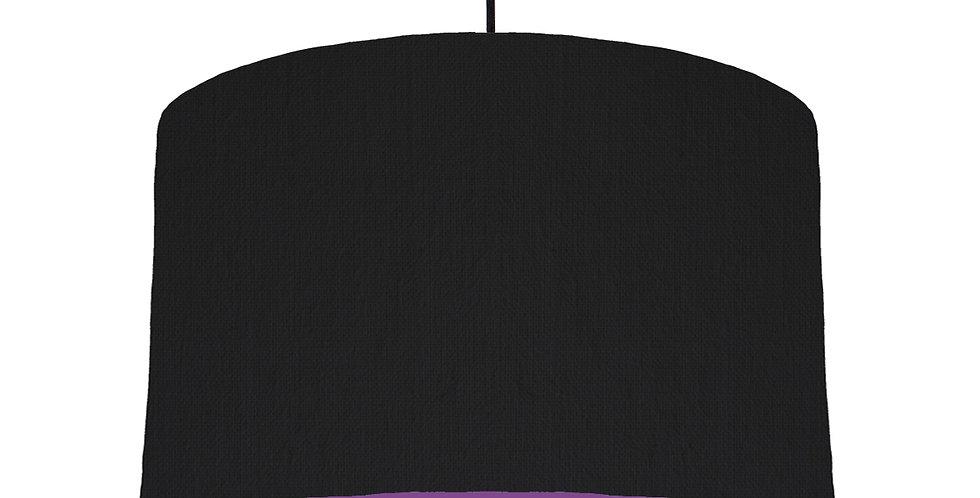Black & Purple Lampshade - 40cm Wide