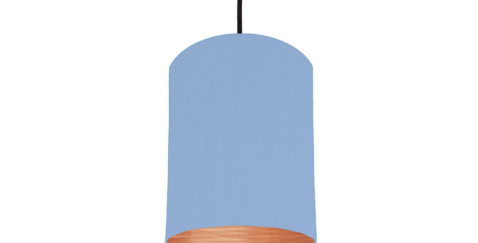 Sky Blue & Brushed Copper Lampshade - 15cm Wide