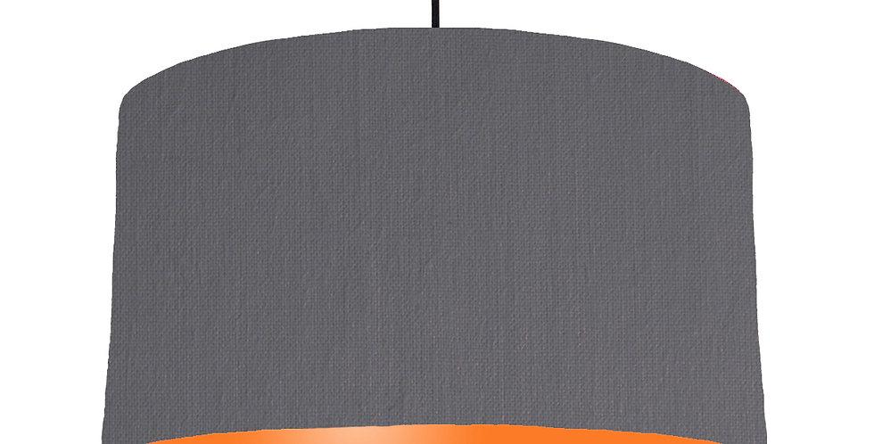 Dark Grey & Orange Lampshade - 50cm Wide
