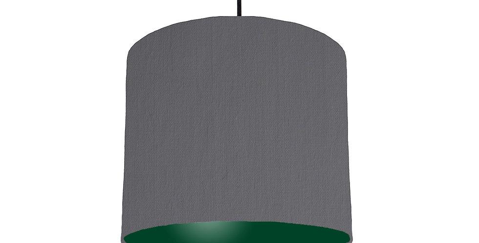Dark Grey & Forest Green Matt Lampshade - 25cm Wide