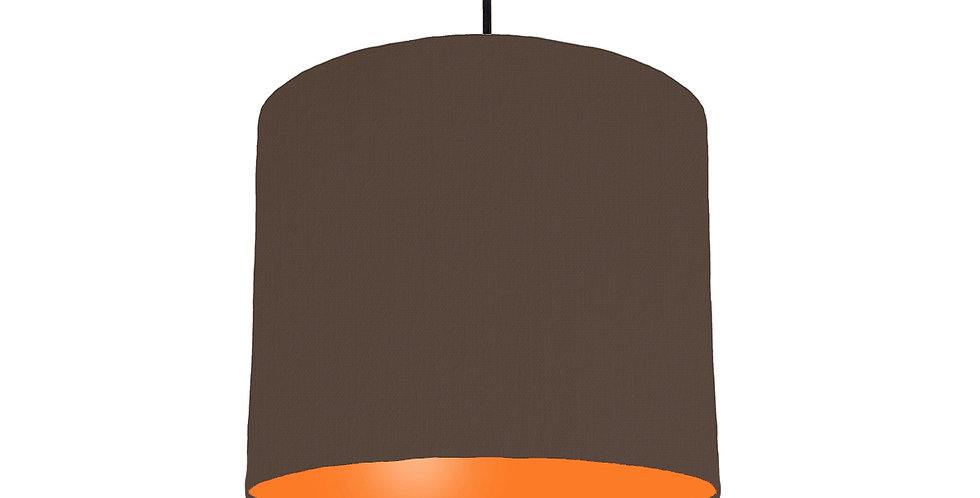 Brown & Orange Lampshade - 25cm Wide