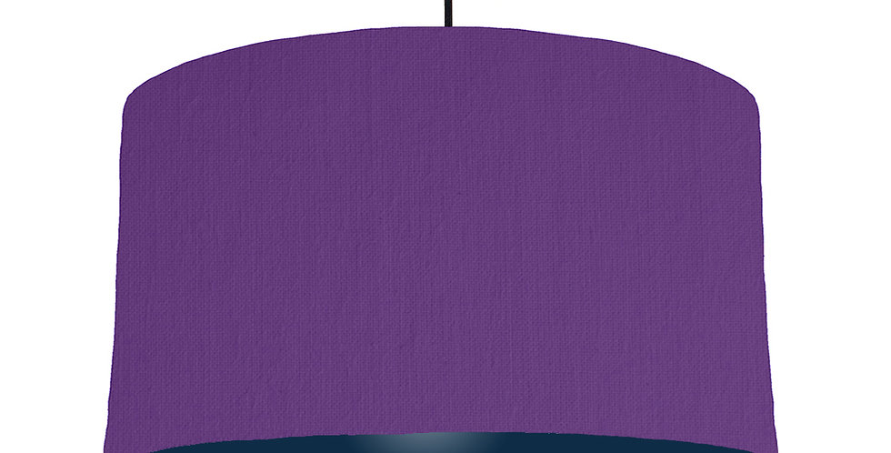 Violet & Navy Lampshade - 50cm Wide