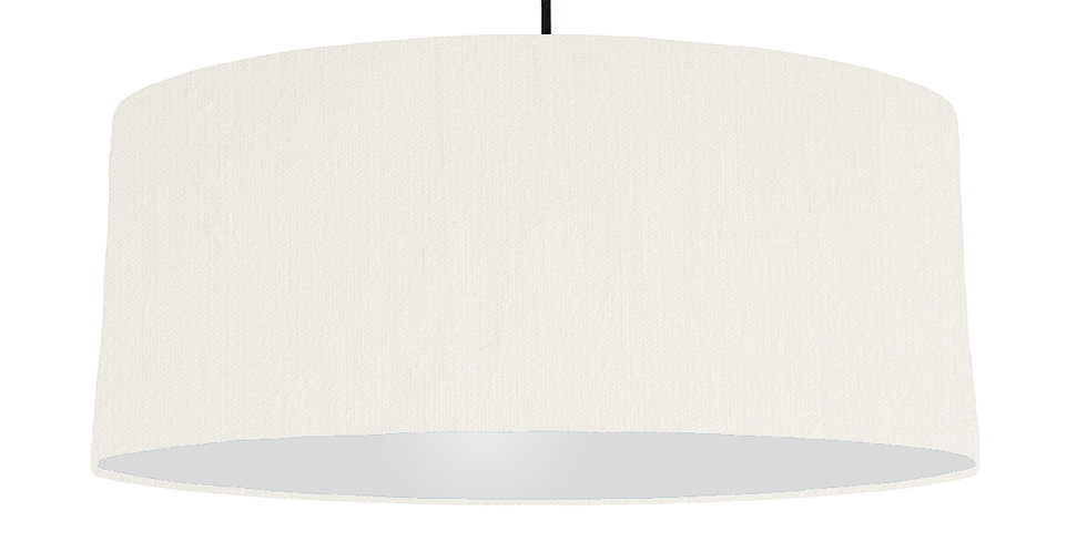 White & Light Grey Lampshade - 70cm Wide