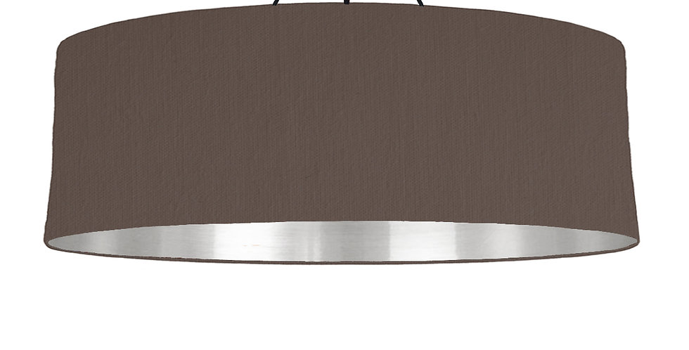 Brown & Silver Mirrored Lampshade - 100cm Wide