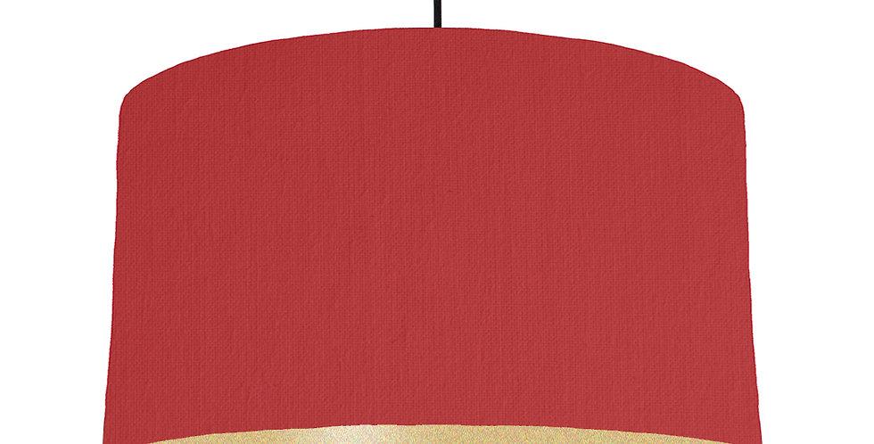 Red & Gold Matt Lampshade - 50cm Wide