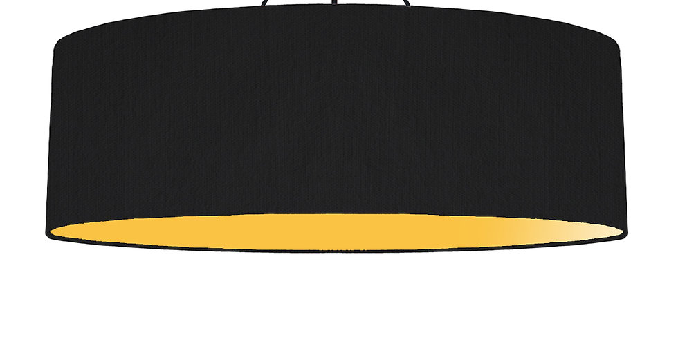 Black & Butter Yellow Lampshade - 100cm Wide