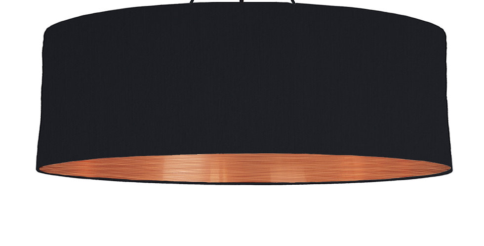 Black & Brushed Copper Lampshade - 100cm Wide