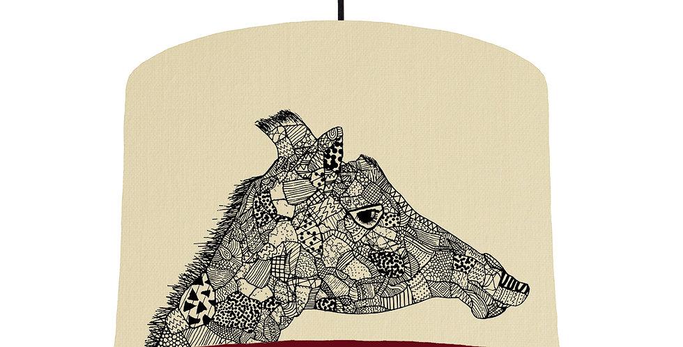Giraffe - Natural & Burgundy Lining