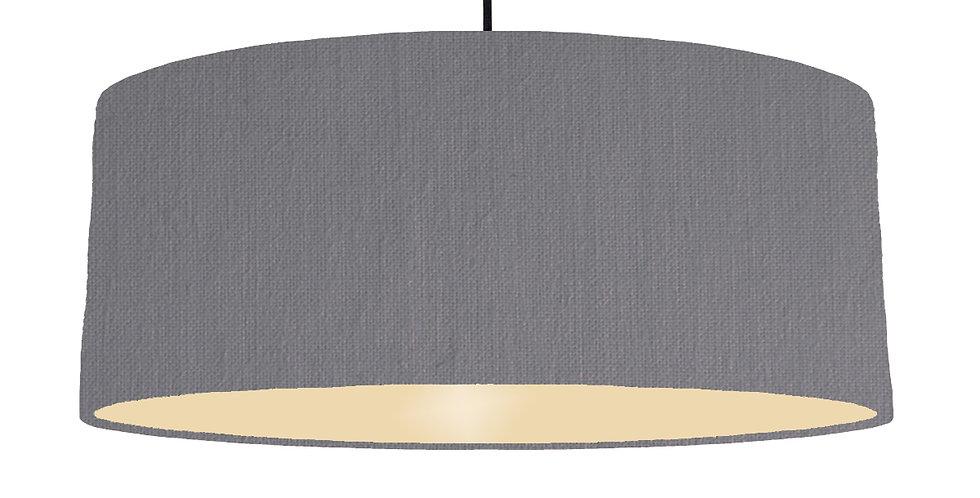Dark Grey & Ivory Lampshade - 70cm Wide