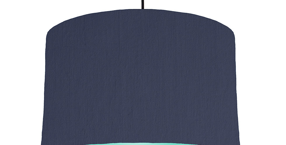 Navy Blue & Mint Lampshade - 40cm Wide