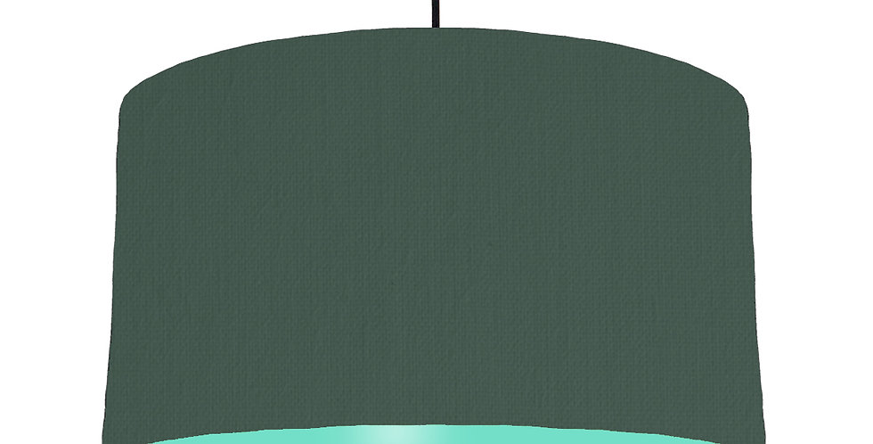 Bottle Green & Mint Lampshade - 50cm Wide