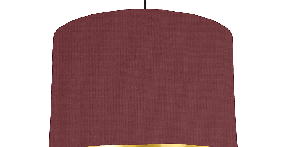 Wine Red & Gold Mirrored Lampshade - 30cm Wide
