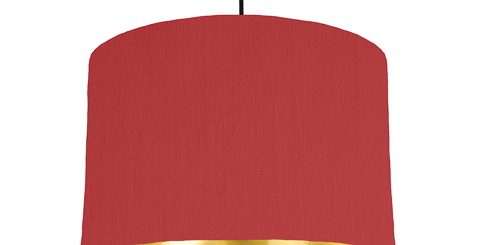 Red & Gold Mirrored Lampshade - 30cm Wide
