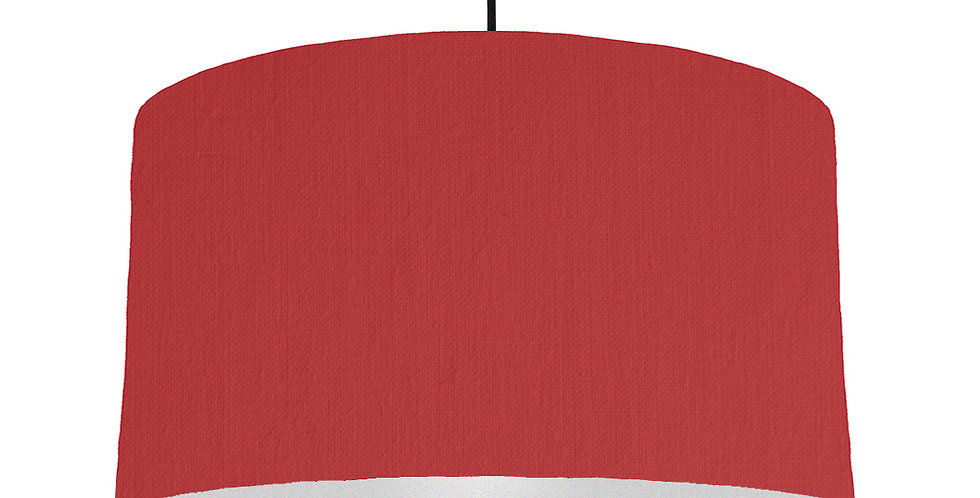 Red & Silver Lampshade - 50cm Wide