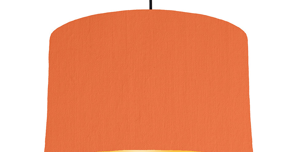 Orange & Butter Yellow Lampshade - 40cm Wide
