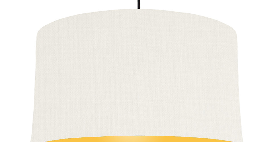 White & Butter Yellow Lampshade - 50cm Wide