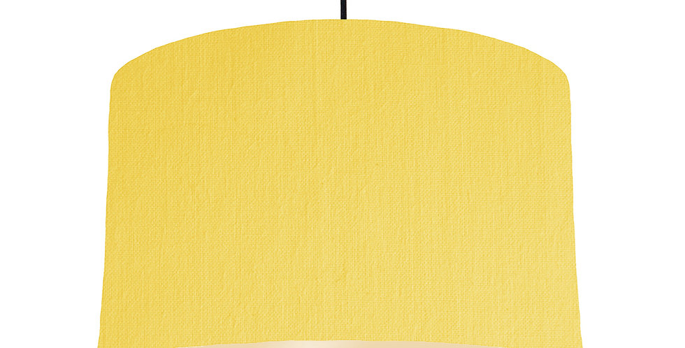 Lemon & Ivory Lampshade - 40cm Wide