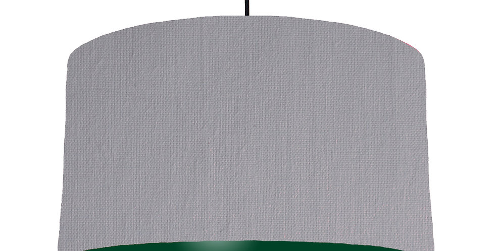 Light Grey & Forest Green Lampshade - 50cm Wide
