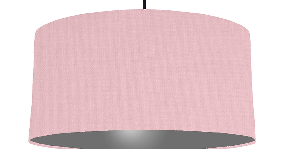Pink & Dark Grey Lampshade - 60cm Wide